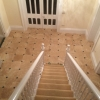 Classic honed & filled travertine with green slate cabachon (1)