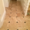 Classic honed & filled travertine with green slate cabachon (3)